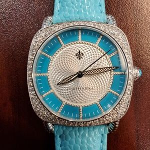 Judith Ripka 34mm Square Turquoise Womens Watch